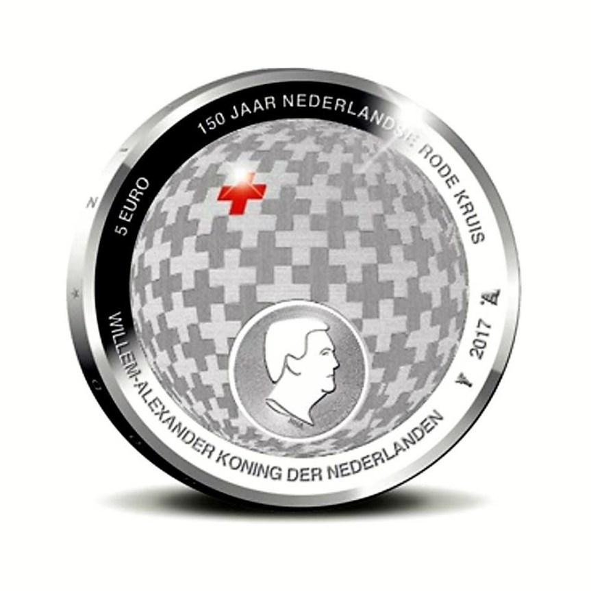 Nové nizozemské mince k výročí Červeného kříže