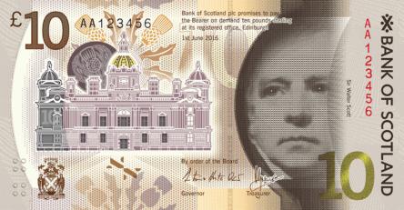 Nové skotské bankovky 10 £ - Skotská banka