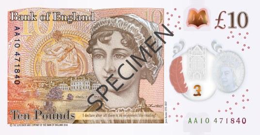 Nové britské bankovky 10 £