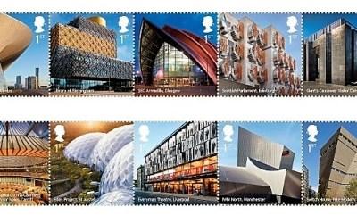 Nové britské známky na námět moderní architektury