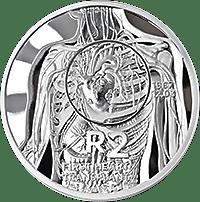 Stříbrné mince JAR k 50. výročí první transplantace srdce