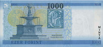 Nové maďarské bankovky 1.000 forintů