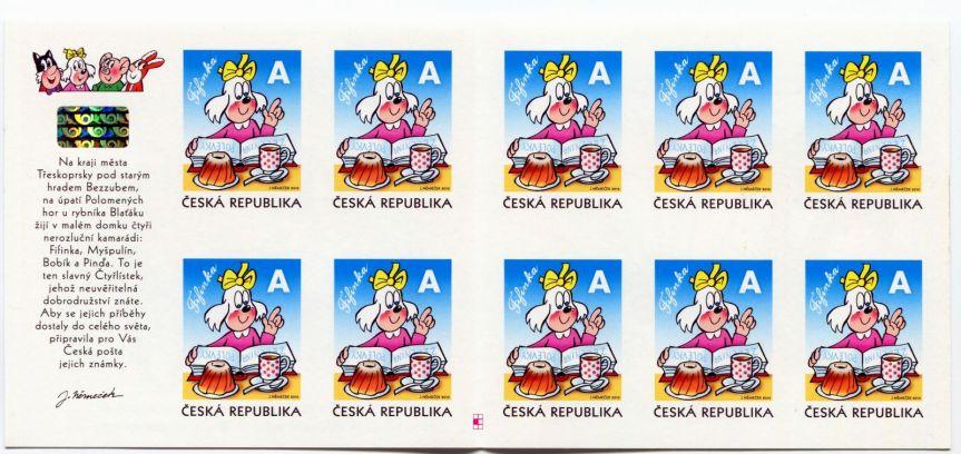 Kompletní známkový sešitek Fifinka bez průseku, Zdroj foto: TGW.cz