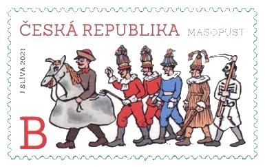 Masopust - poštovní známka 2021
