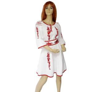 prezentare rochie brodata