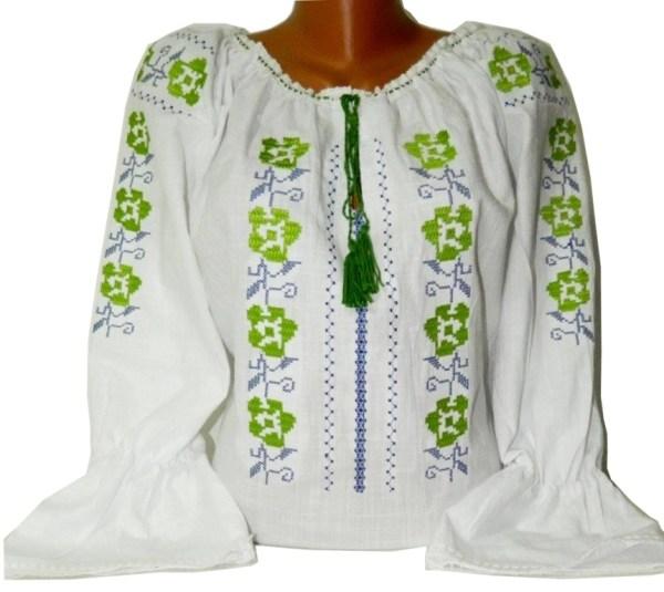 broderie traditionala cu verde