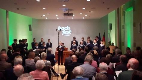 Sängerknaben des Thomanerchors beim Preview des 20. Bachfestes in der Sächsischen Landesvertretung Berlin
