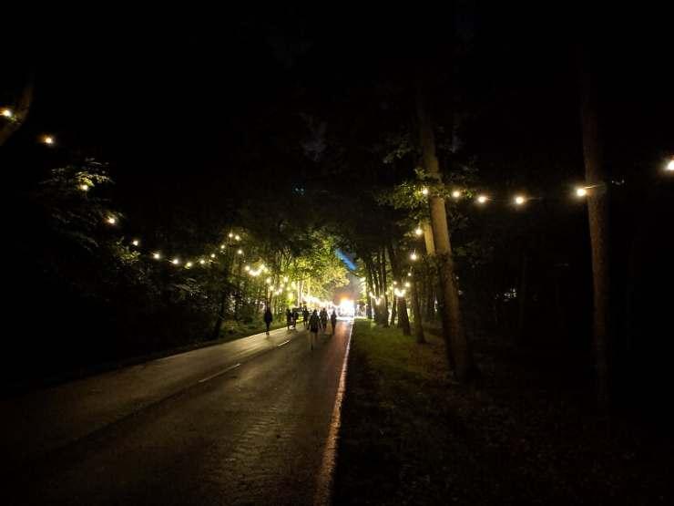 Campingplatz Weg Nacht