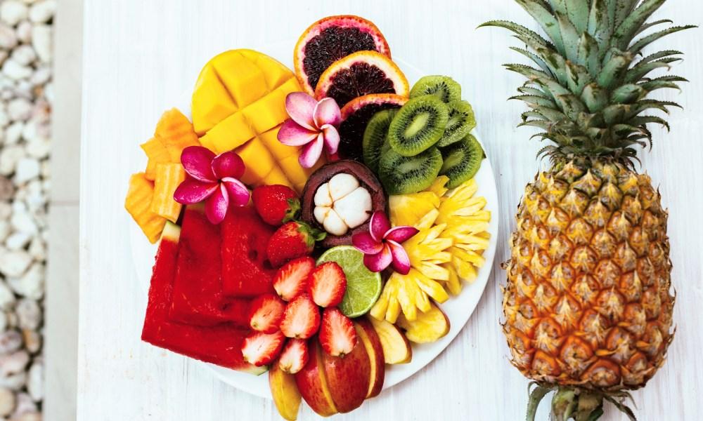 Frische Früchte. Gesunde lebensmittel. Top Früchte. Exotische Früchte