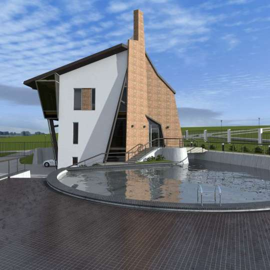 Уникальный проект современного загородного дома