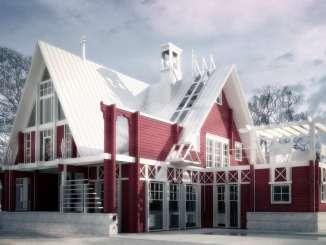 Проект современного загородного дома с мансардой