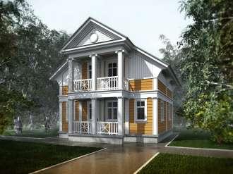 Проект деревянного дачного дома