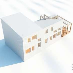 Проект современного загородного дома Silver House