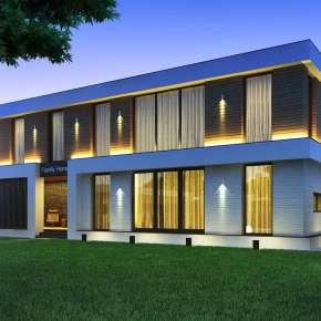 Проект современного загородного дома в Самарской области