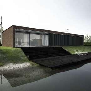 Проект дома с плоской крышей площадью около 100 м2