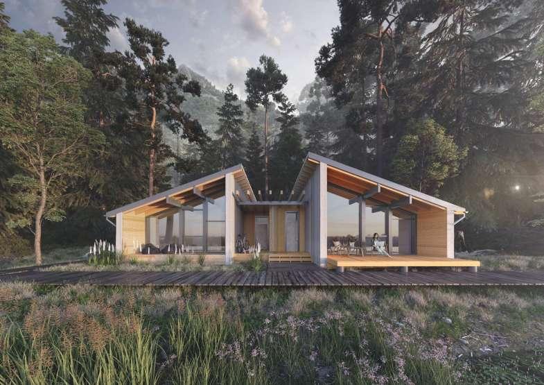 Проект растущего дома для трёх поколений