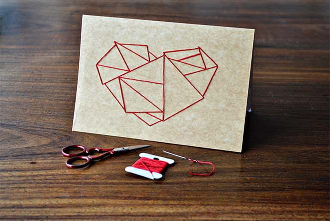 DIY mit Herz: Gestickte Karte von Anne Mende