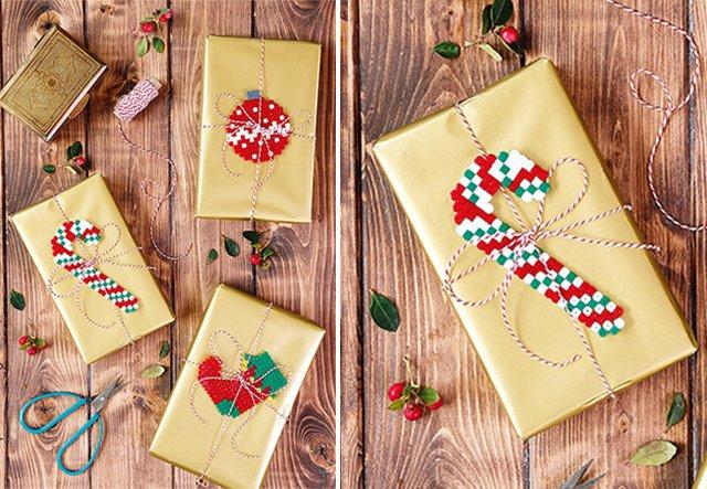 Anhänger für Weihnachtsgeschenke aus Bügelperlen basteln!