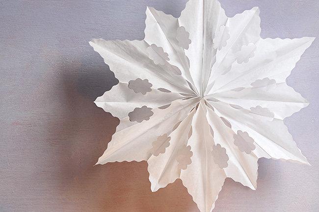 Weihnachtsdeko Für 1 Euro.Weihnachtsdeko Aus Papier Bastele Eine Eisblume Makerist Magazin