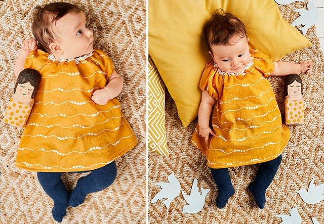 Kleidchen aus Musselin-Stoff für Babys nähen!