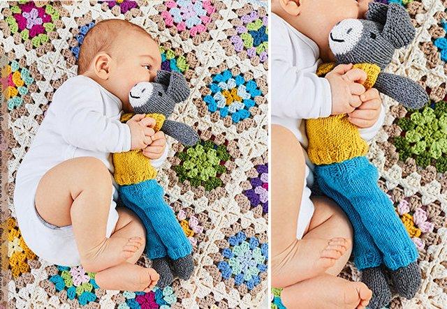 Kuscheliger Freund: Schmusetier für Babys stricken!