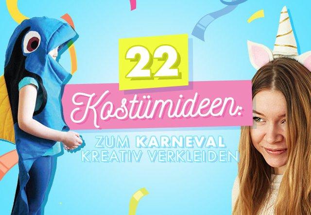 22 Kostümideen: Zum Karneval kreativ verkleiden