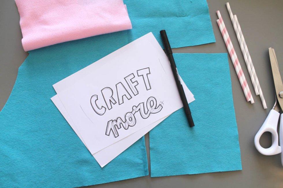 Makerist-DIY-Wimpel-Filz-Typo-Statements