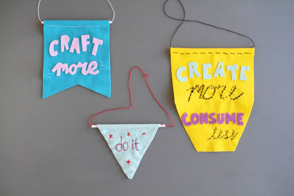 Makerist-DIY-Wimpel-Typo-Statements-Filz
