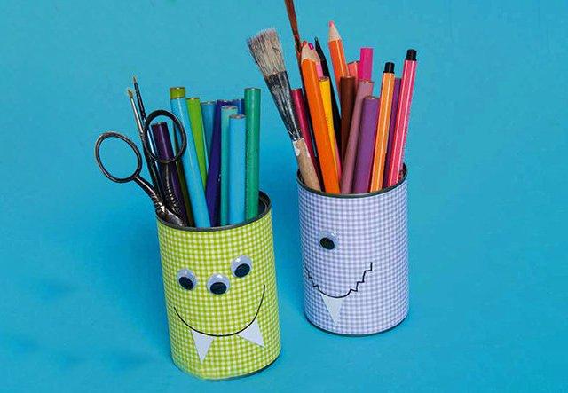 Upcycling: Stiftehalter aus Konserven basteln!