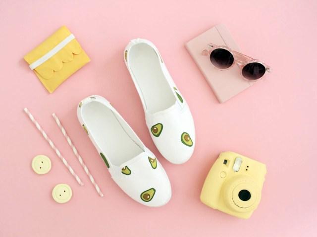DIY: Schuhe mit Stoff bekleben