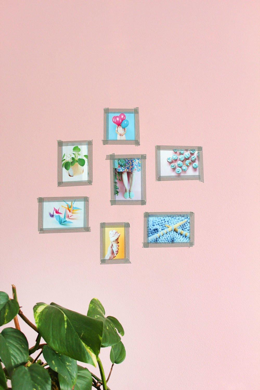 Makerist-Basteln-mit-Kindern-50-DIY-Projekte-Bilderwand-mit-Tape