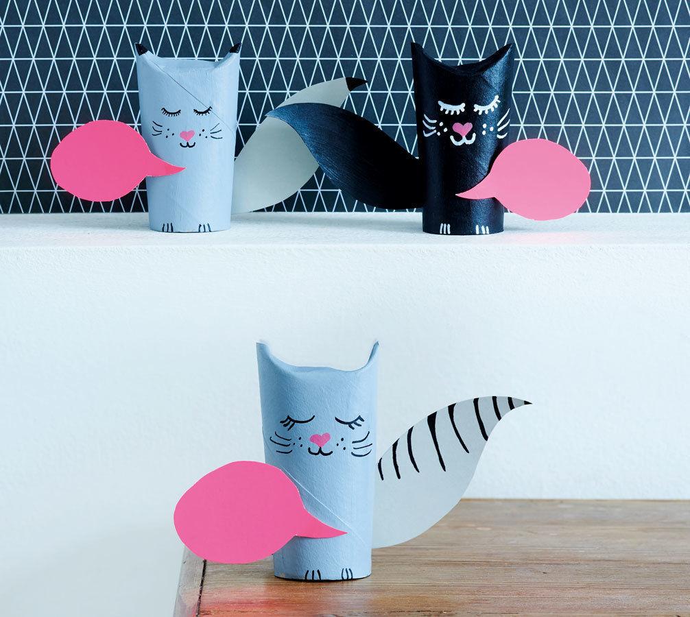 Makerist-Basteln-mit-Kindern-50-DIY-Projekte-Papp-Katze-1