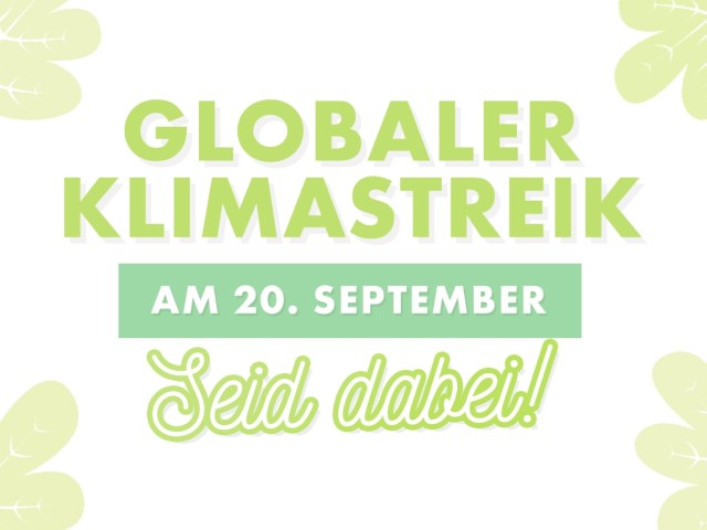 Globaler Klimastreik am 20.09. – #ALLEFÜRSKLIMA