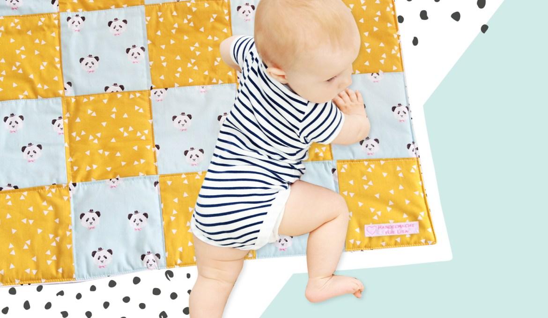 Geschenk zur Geburt – Babydecke nähen
