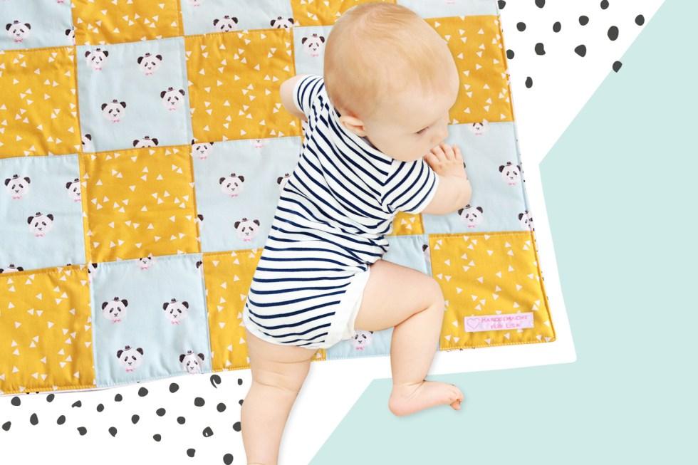 Makerist-DIY-Geschenk-zur-Geburt-Babydecke-nähen-1