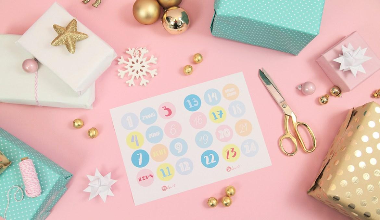Gratis Printable für Weihnachten: Adventskalender-Zahlen drucken