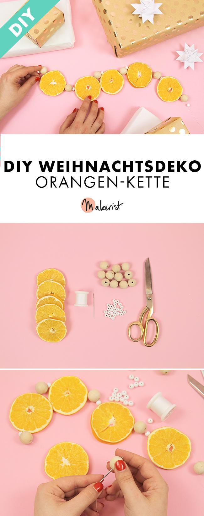 Makerist-Weihnachtsdeko-selbermachen-Orangen-Kette-basteln-Pin-1