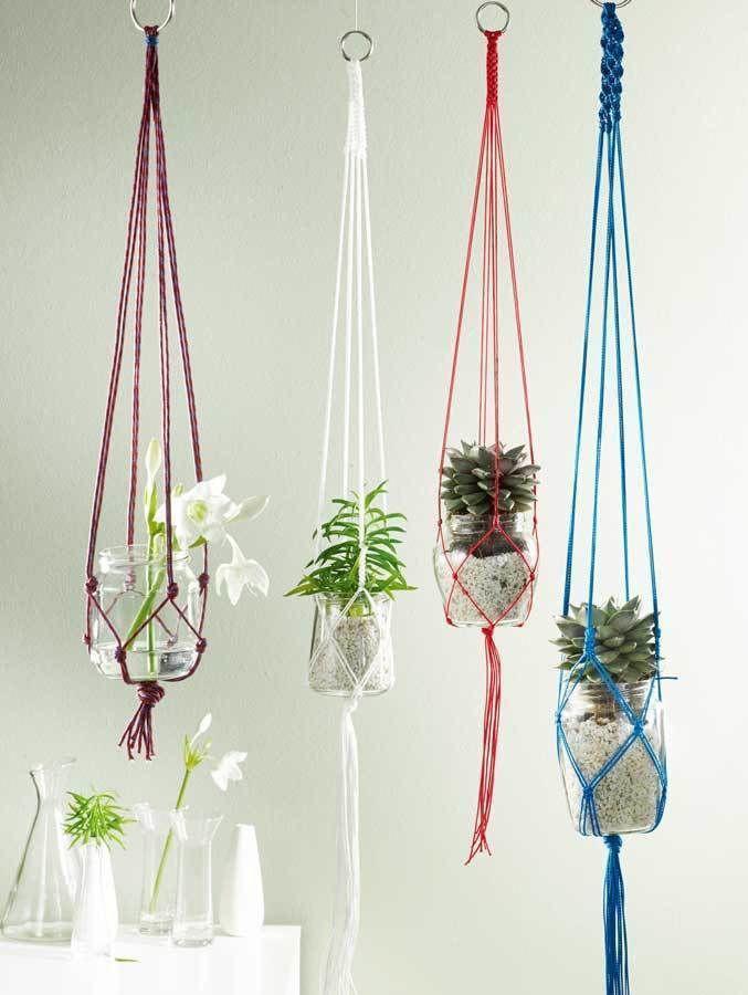 Makerist-Magazin-13-Last-Minute-DIY-Weihnachtsgeschenke-Makramee-Blumenampeln