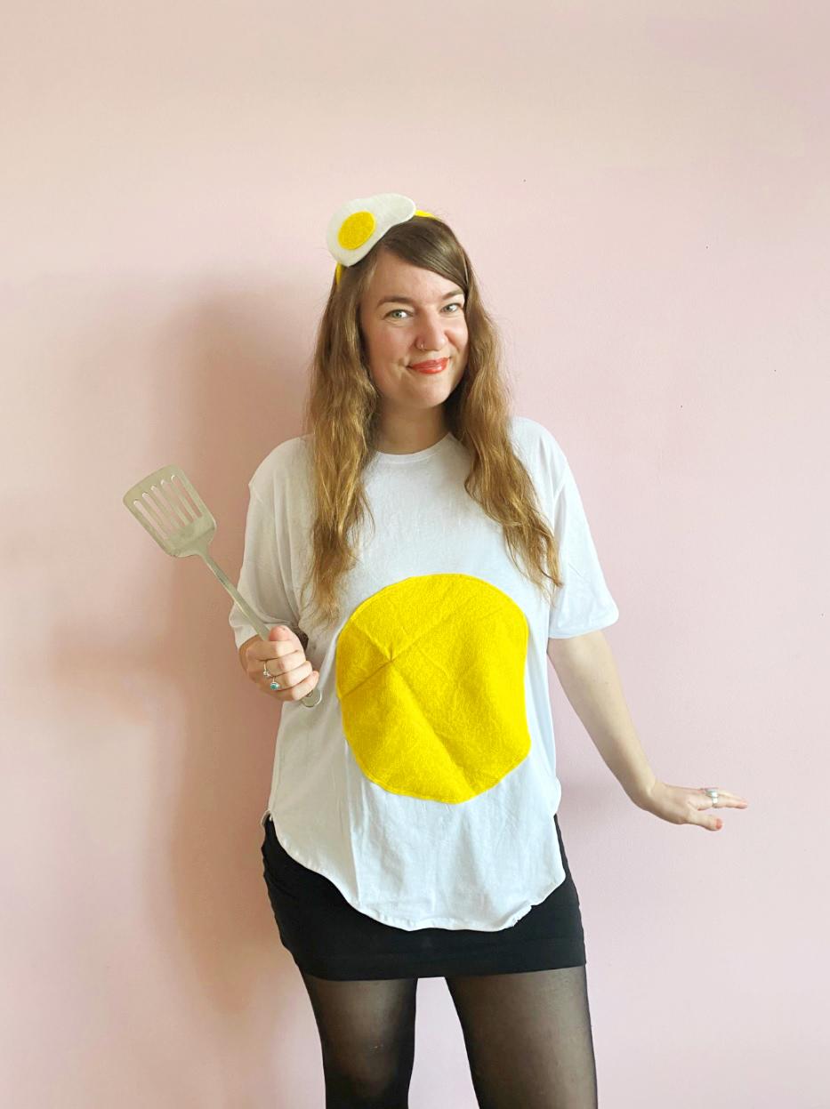 Makerist-Spiegelei-Kostüm-selber machen-DIY-Verkleidung-für-Karneval-Fasching-Halloween-und-Co-8