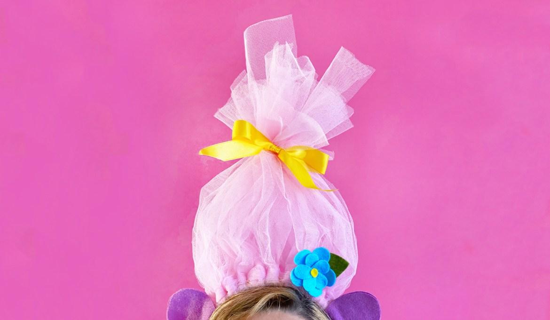 Troll-Kostüm selber machen – DIY-Haarschmuck für Karneval, Fasching oder Halloween