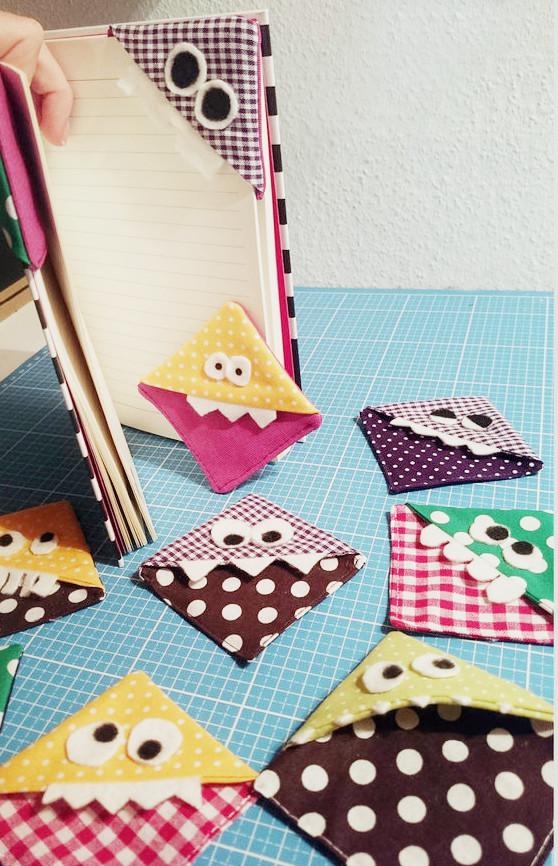 Nähen-und-Basteln-mit-Kindern-17-einfache-Projekte-für-die-Tage-Zuhause-Monster-Lesezeichen