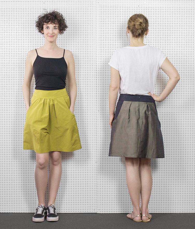 Makerist-Röcke selber nähen-Claire-Massieu-Rock-Creme