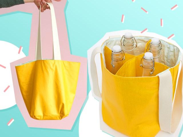 Flaschentasche für Picknick und Einkauf selber nähen