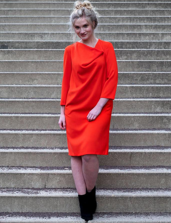 Makerist-Herbstmode-selber-naehen-15-Anleitungen-fuer-Gross-und-Klein-Geometrisches-Kleid