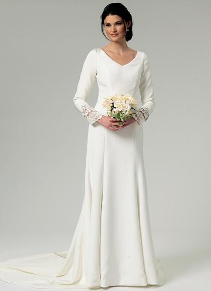 Makerist-DIY-Hochzeit-21-tolle-Anleitungen-und-Ideen-Brautkleid-lange-Arme-Kopie
