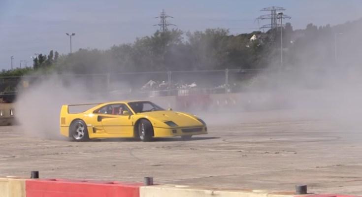 ferrari-f40-drift-video