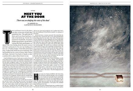 """Meet You at the Door"" (The Walrus; Jan/Feb 2011); Illustration by Selena Wong"