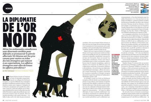 """""""La diplomatie de l'or noir,"""" par Sébastien Thibault, L'actualité"""