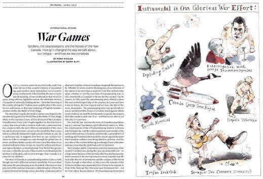 """""""War Games,"""" by Barry Blitt, The Walrus"""