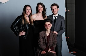 "From left to right: Haley Cullingham, former Editor-in-Chief; Jennifer Varkonyi, Publisher; Anna Minzhulina, Art Director; Daniel Viola, Editor-in-Chief. Daniel Viola (right), Editor-in-Chief: ""For me (scenes are) what separates what's going to be a good story from a great story and a really great story, because that's what's interesting - people are interesting, events are interesting. You need to be able to have both the ebbs and the flows of the story, great scenes, research to back it up, all of the context needed, but it's knowing the role of all these different elements of storytelling and how you put them all together to make an 800-word story or a 2, 000-word story and how you adapt to the length that there is."" Anna Minzhulina (seated), Art Director: ""I think that art and the words, they should exist together, but at the same time they should exist separately and individually as well. It's not necessarily that art should be an illustration of what the story is word-by-word, but it should be an interpretation, not a narration."""